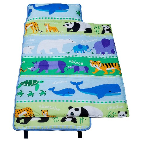 WildKin Olive Kids Endangered Animals 100% Cotton Nap Mat - image 1 of 3