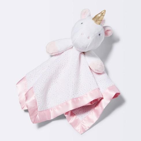 Small Security Blanket Unicorn - Cloud Island™  Light Pink - image 1 of 3