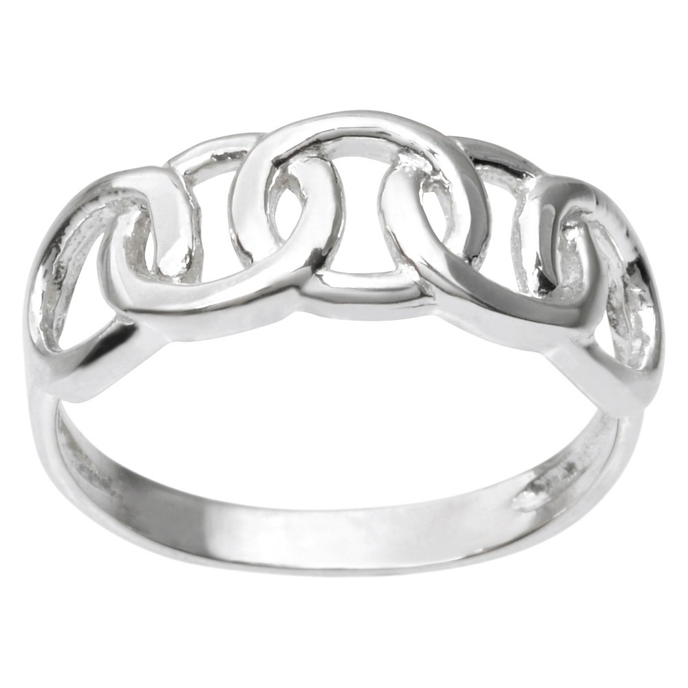 Women's Journee Collection Circle Design Ring in Sterling Silver - Silver (9)
