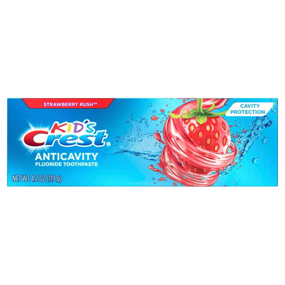Image of Crest Kid's Anticavity Fluoride Toothpaste For Children Strawberry Rush - 4.2oz