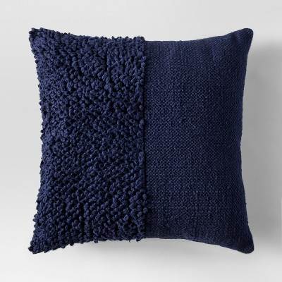 Blue Navy Solid Textured Throw Pillow - Project 62™