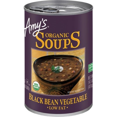 Amy's Organic Low Fat Black Bean Vegetable Soup 14.5oz