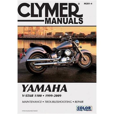 Yamaha V-Star 1100 - (Clymer Color Wiring Diagrams) (Paperback) on
