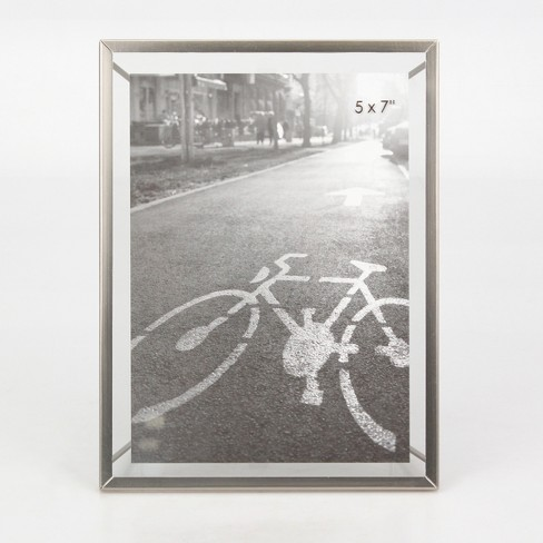 "5""X7"" Frame With Symmetrical Wire Back Brushed Nickel  - Project 62™ - image 1 of 2"