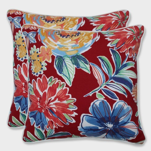 "16.5"" 2pk Colsen Berry Throw Pillows Red - Pillow Perfect - image 1 of 1"