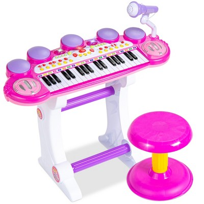 Best Choice Products 37-Key Kids Electronic Piano Keyboard w/ Multiple Sounds	Lights Microphone	Stool