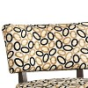 Accent Chair In Printed Fabric Cream/Black - Benzara - image 2 of 4