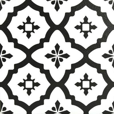 FloorPops Set of 20 Comet Peel & Stick Floor Tiles Clear
