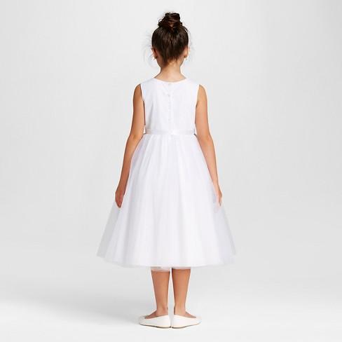 Girls Flower Girl Dress Tevolio White 6x Target
