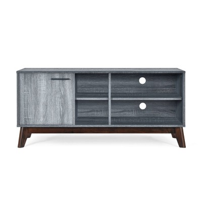 Rattler Mid Century Modern Tv Stand With Storage For Tvs Upto 43 Sonoma Gray Oak Walnut Christopher Knight Home Target