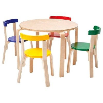 ECR4Kids Bentwood Curved Back Chair and Table Furniture Set,Premium Kids Set for Homes, Daycares and Classrooms