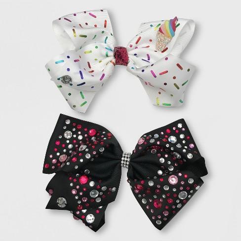 3746ceea62974 Girls  JoJo Siwa 2pk Bow Hair Clip   Target