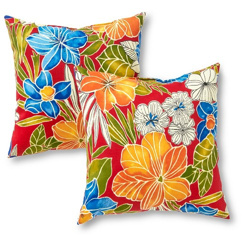 Outdoor Accent Pillow Set - Aloha Red - Greendale Home Fashions - image 1 of 3