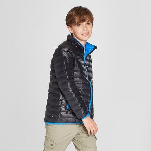 cb53d6e71 Boys  Down Puffer Jacket - Cat   Jack™ Black   Target