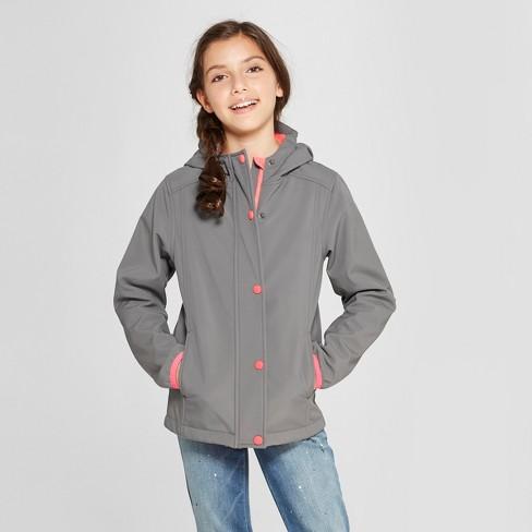 ee373da19fcd Girls  All Softshell Jacket - Cat   Jack™ Grey   Target