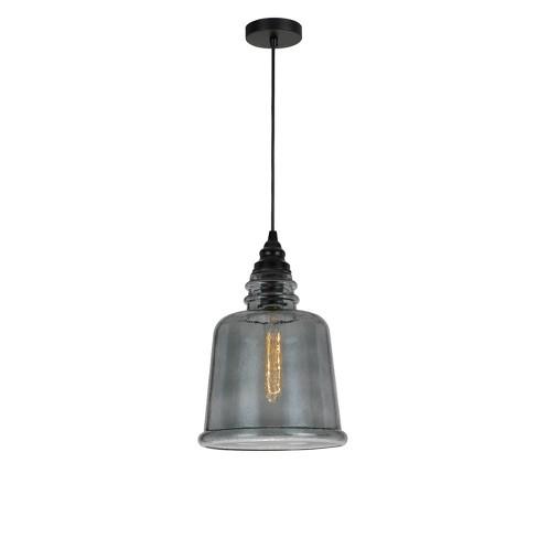 "Scafati Rippled Glass Pendant Gray 5.5"" - Cal Lighting - image 1 of 2"