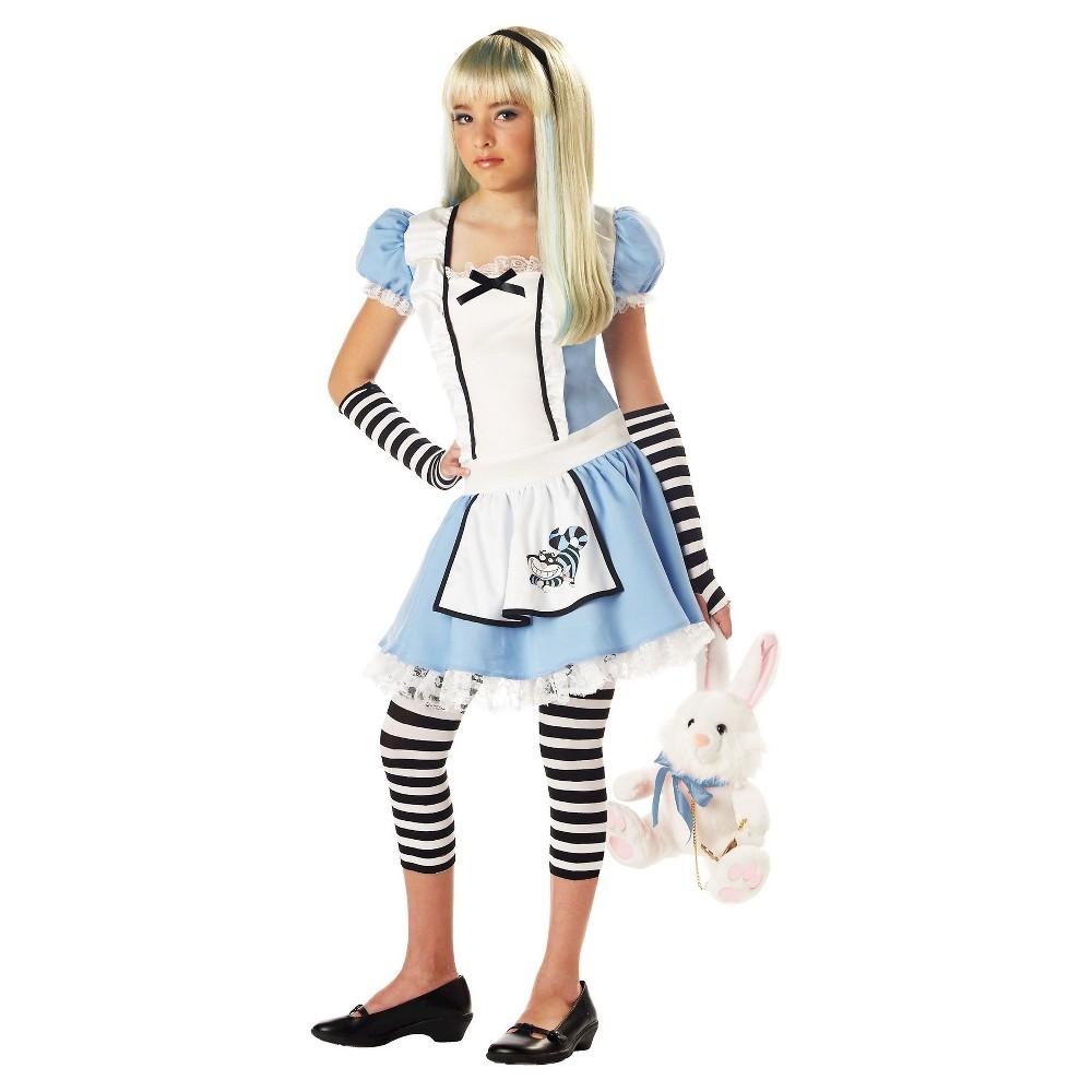 Girls' Alice in Wonderland Costume XL (14 - 16), Blue