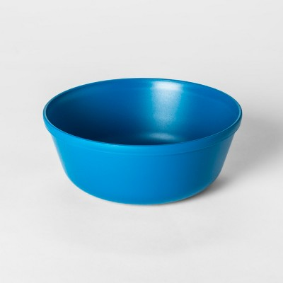15.5oz Plastic Kids Bowl Blue - Pillowfort™