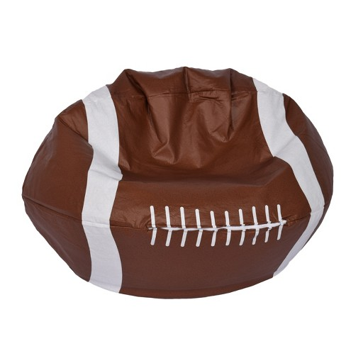 Football Bean Bag Chair Matte Brown Ace Bayou