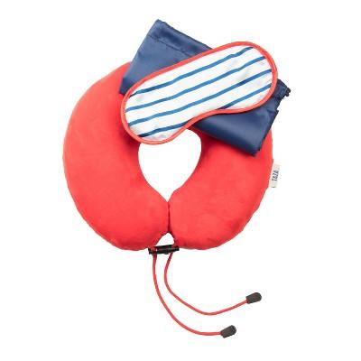 Love Taza 3pc Travel Comfort Set - Navy/Red