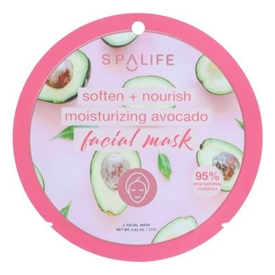 SpaLife Moisturizing Face Mask Avocado - 0.81oz
