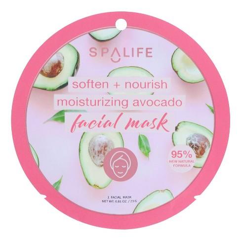 SpaLife Moisturizing Face Mask Avocado - 0.81oz - image 1 of 3