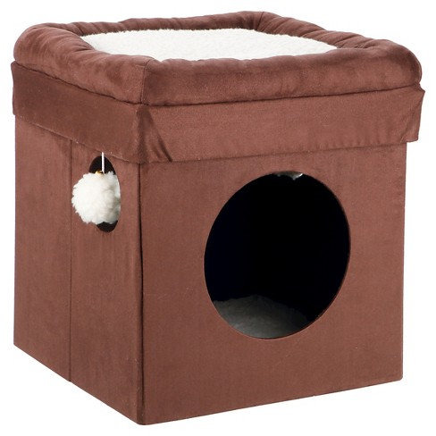 TRIXIE Pet Products Miguel Fold-and-Store Collapsible Cat Condo - Brown - image 1 of 2