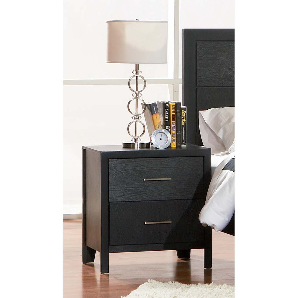 Eaves 2 Drawer Nightstand Black - Private Reserve