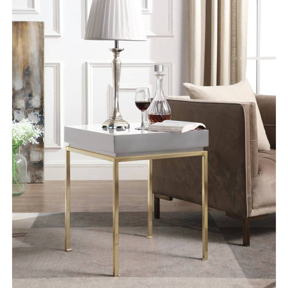 Sabrina Side Table Gray - Chic Home Design was $329.99 now $197.99 (40.0% off)
