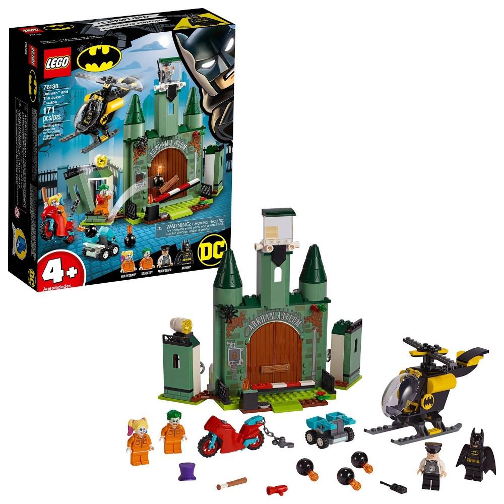 LEGO DC Comics Super Heroes Batman and The Joker Escape Arkham Asylum Building Set 76138
