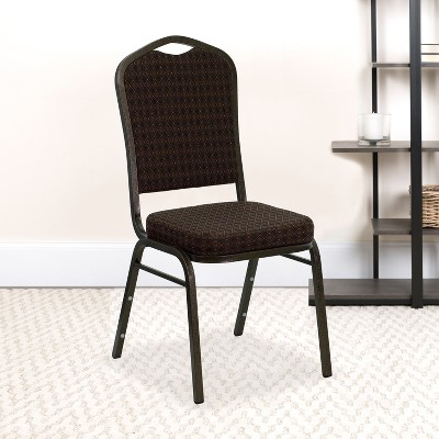 Emma and Oliver Crown Back Stacking Banquet Dining Chair