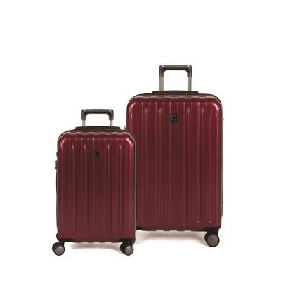 DELSEY Paris Titanium 2pc Hardside Spinner Luggage Set - Red