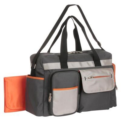 Graco® Tangerine Duffle Diaper Bag - Gray & Orange