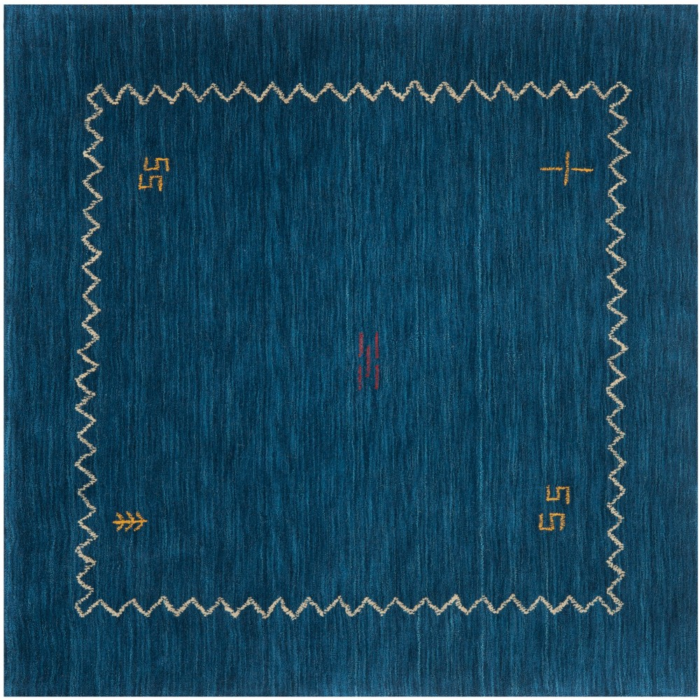 Best Discount 6X6 Tribal Design Loomed Square Area Rug Blue Safavieh