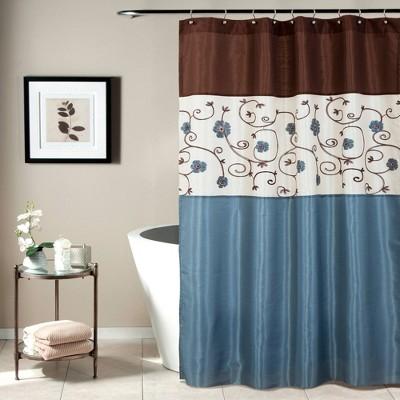 Royal Garden Shower Curtain Blue - Lush Décor