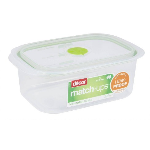 Decor Match-Ups Green Oblong Realseal Food Storage Container - image 1 of 1