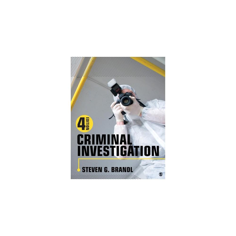 Criminal Investigation - by Steven G. Brandl (Paperback)