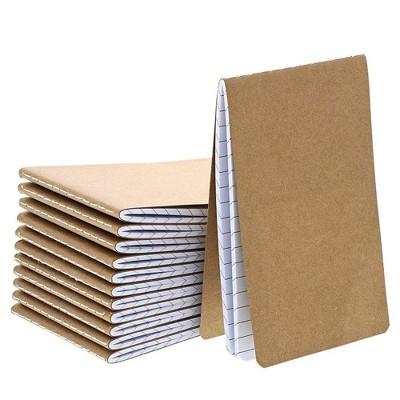Mini Blank Kraft Memo Book Field Notebooks (12 Count)