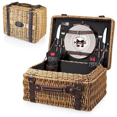 Disney Mickey & Minnie Mouse Champion Picnic Basket by Picnic Time - Black