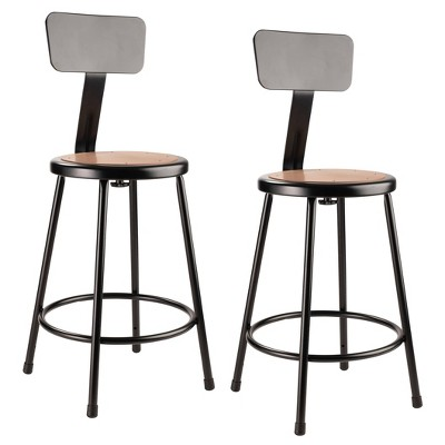 """2pk 24"""" Heavy Duty Steel Counter Height Barstools with Backrest - Hampton Collection"""