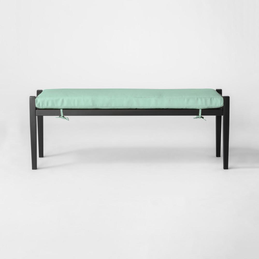 Fairmont Metal Patio Dining Bench - Aqua (Blue) - Threshold