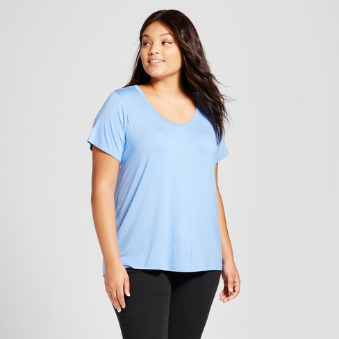 725fed99b91 Women s Plus Size Perfect Short Sleeve T-Shirt - Ava   Viv™   Target