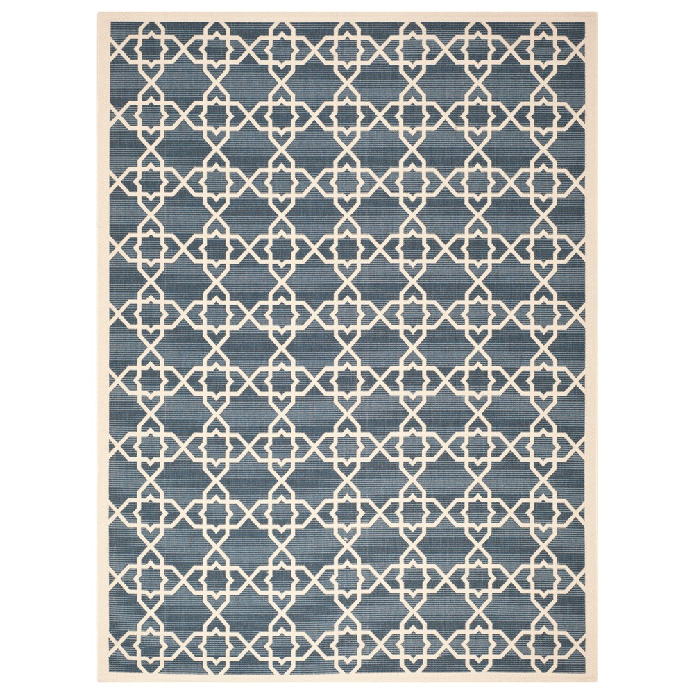 Belfast 8' x 11' Outdoor Rug Navy/Beige - Safavieh, Blue