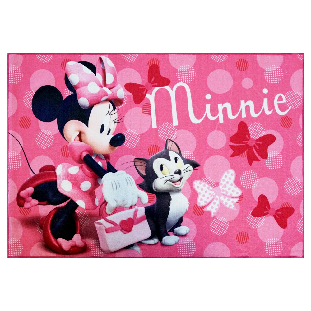 Image of Disney Minnie Mouse Pink Rug (5'x7')