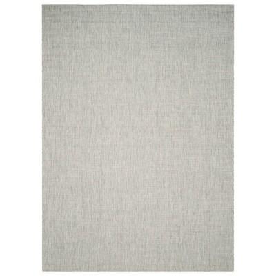 8' x 11' Rectangle Jenkin Outdoor Rug Gray/Turquoise - Safavieh