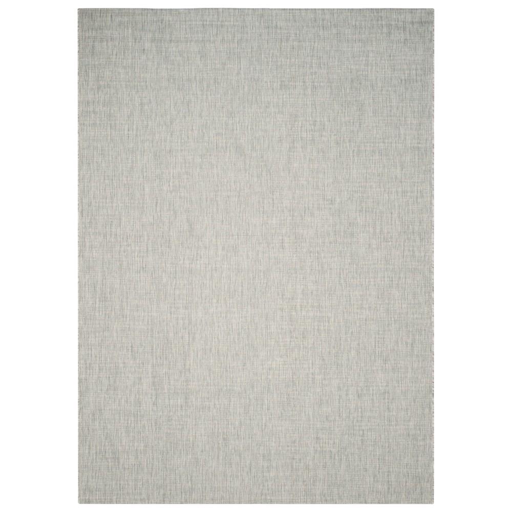 Jenkin Rectangle 9' X 12' Outdoor Patio Rug - Gray / Turquoise - Safavieh