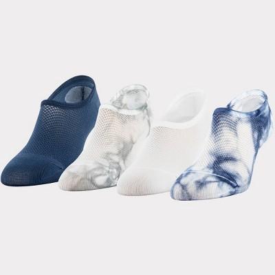 Peds Women's Tie-Dye Mesh 4pk Ultra Low Liner Casual Socks 5-10