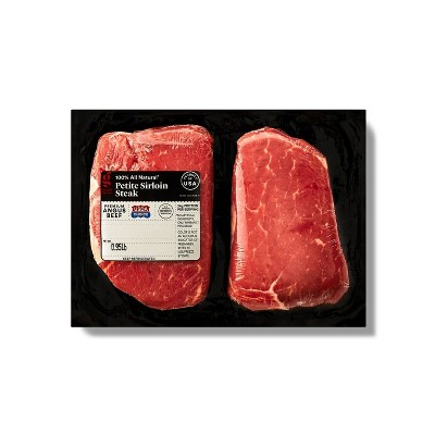 USDA Choice Angus Petite Sirloin Steak - 0.68-1.13 lbs - price per lb - Good & Gather™