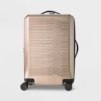"Hardside 21"" Carry On Suitcase Champagne - Open Story™"