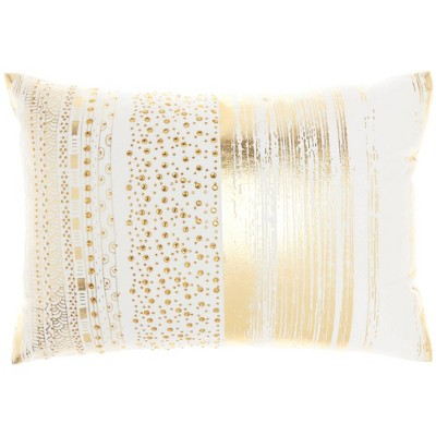 """14""""x20"""" Luminescence Metallic Printed Lumbar Throw Pillow - Mina Victory"""